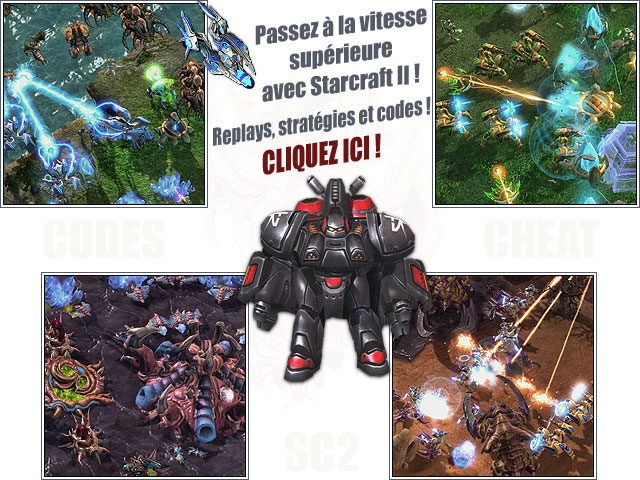 Starcraft 2 codes et cheats