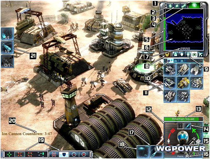 Interface de command and conquer 3